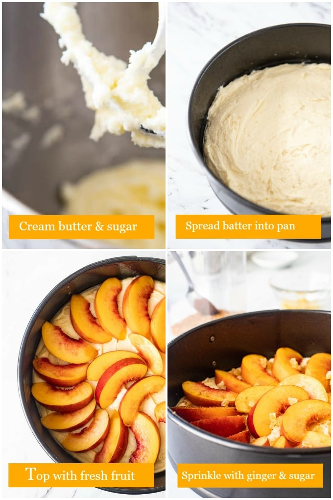 Step by step instructions for making this fresh fruit cake recipe.