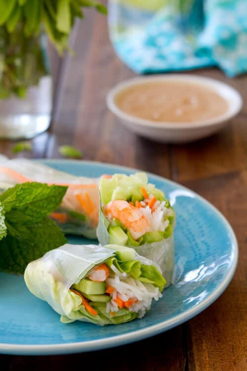 Shrimp and Mint Summer Rolls