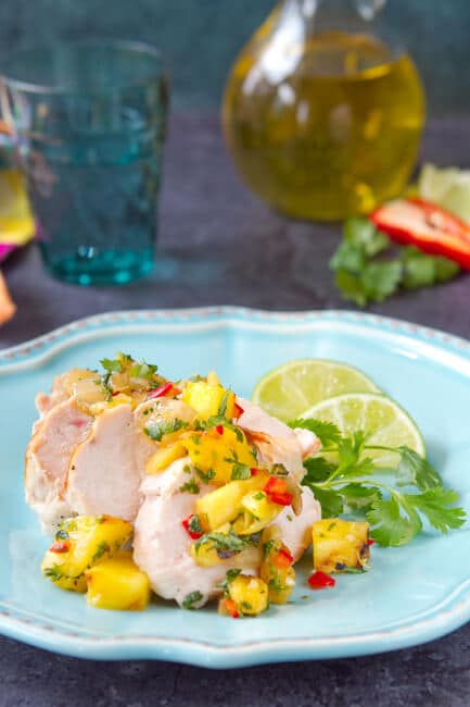 This easy grilled Asian Pineapple Salsa recipe is sweet, spicy and smoky. This summer standby is great with chips or fish, chicken or pork!