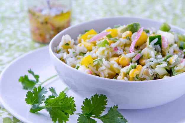 Hatch Chile and Lemon Rice Salad