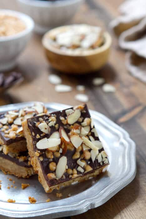 One bowl almond toffee bars