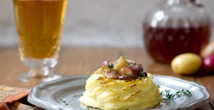Potato Cups with Mushrooms and Shallots