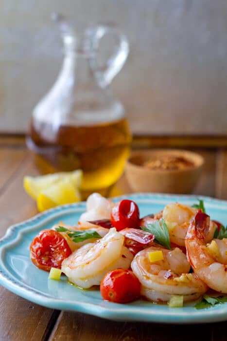 Poached Spanish Shrimp Oil Poached Spanish Sherried Shrimp