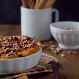 With no peeling and no boiling, this easy, pecan topped Brown Butter Sweet Potato Casserole is a holiday must make.