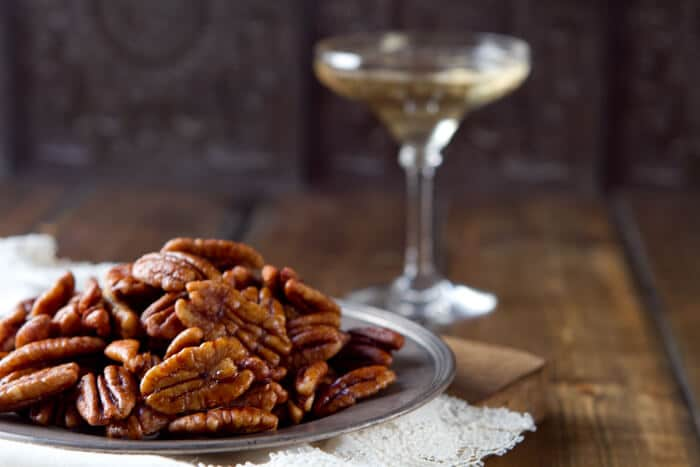 That is until now – because these Bourbon Maple Pecans are not ...
