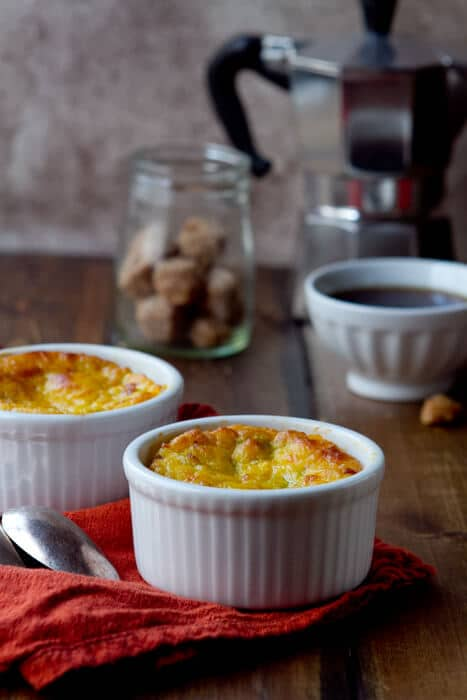corn pudding with Pancetta and Chiles