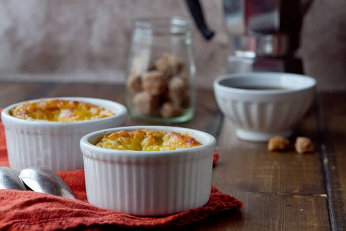 Corn Pudding with Chiles and Pancetta