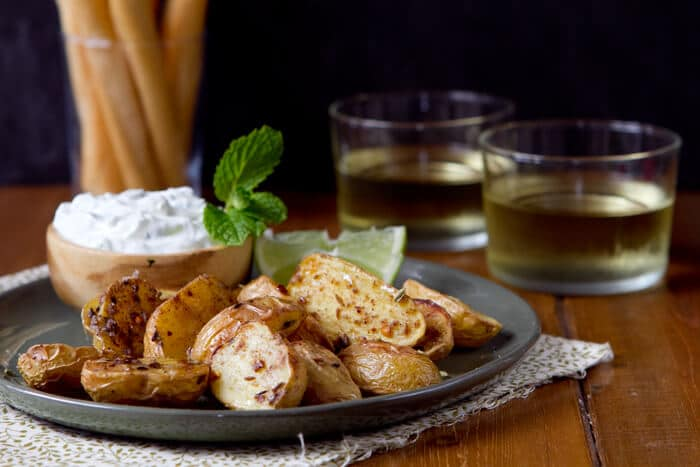 Roasted Potatoes with Cucumber Mint Raita