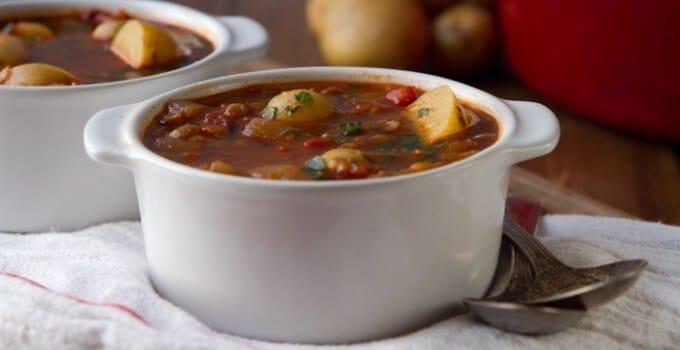 Smoky Tomato Lentil Soup
