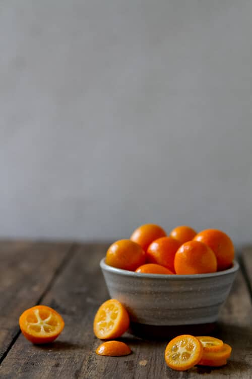 Kumquats in a bowl.