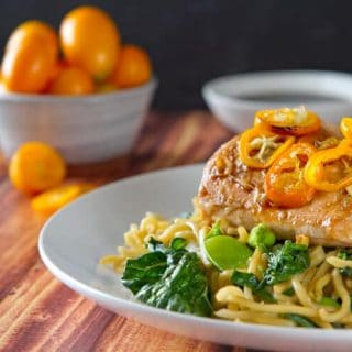 Salmon & Kumquat Yakisoba Noodle Recipe