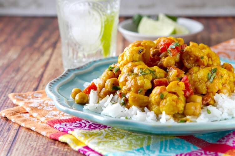 Cauliflower and Chickpea Curry - A Communal Table