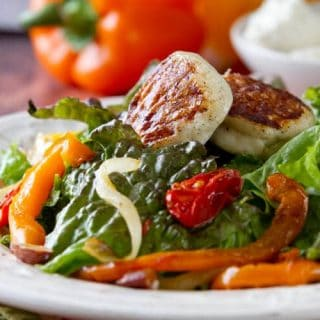 seared Panela Salad with Sherry Vinaigrette