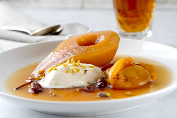 Tea Poached Pears with Apricots and Cherries | A Communal ...
