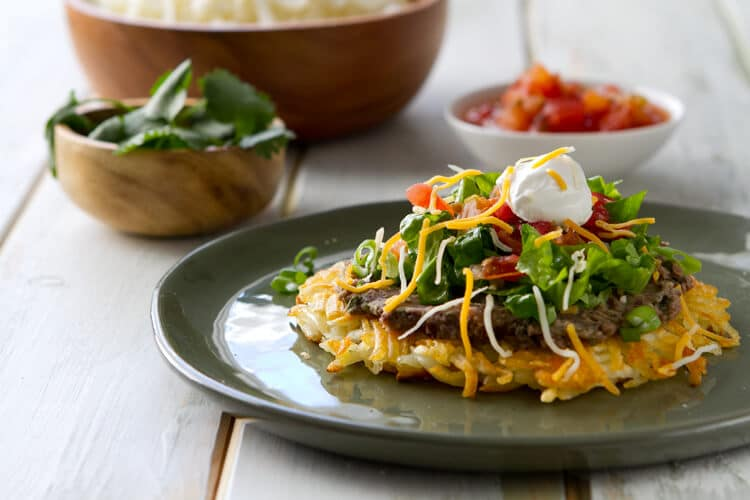 you combine two of your favorite dishes together? Hash Brown Tostadas ...