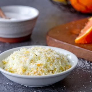 Citrus salt is easy to make with fresh citrus zest and salt. No oven required.