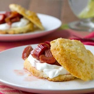 Lillet Rhubarb Shortcakes - a slightly boozy take on this classic american dessert.