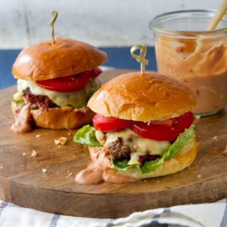 Chorizo Sliders with Crema Chili Sauce