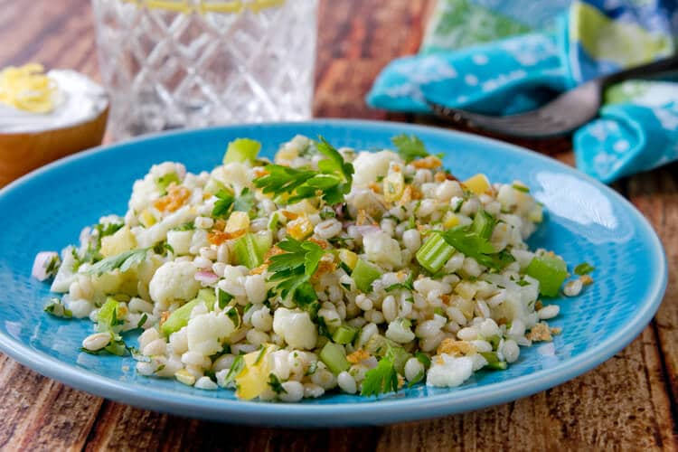 Chopped Cauliflower Salad - an easy, make ahead salad that's chewy, crunchy,tart and creamy!