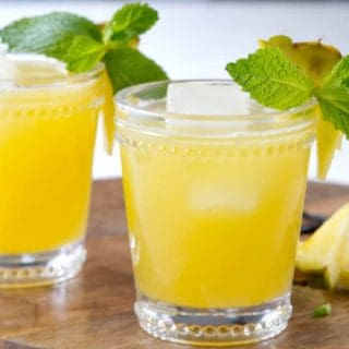 Rum and Pineapple Agua Fresca