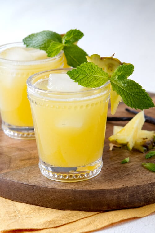 This rum and pineapple agua fresca cocktail is the perfect party recipe and let guests add the rum to their taste!