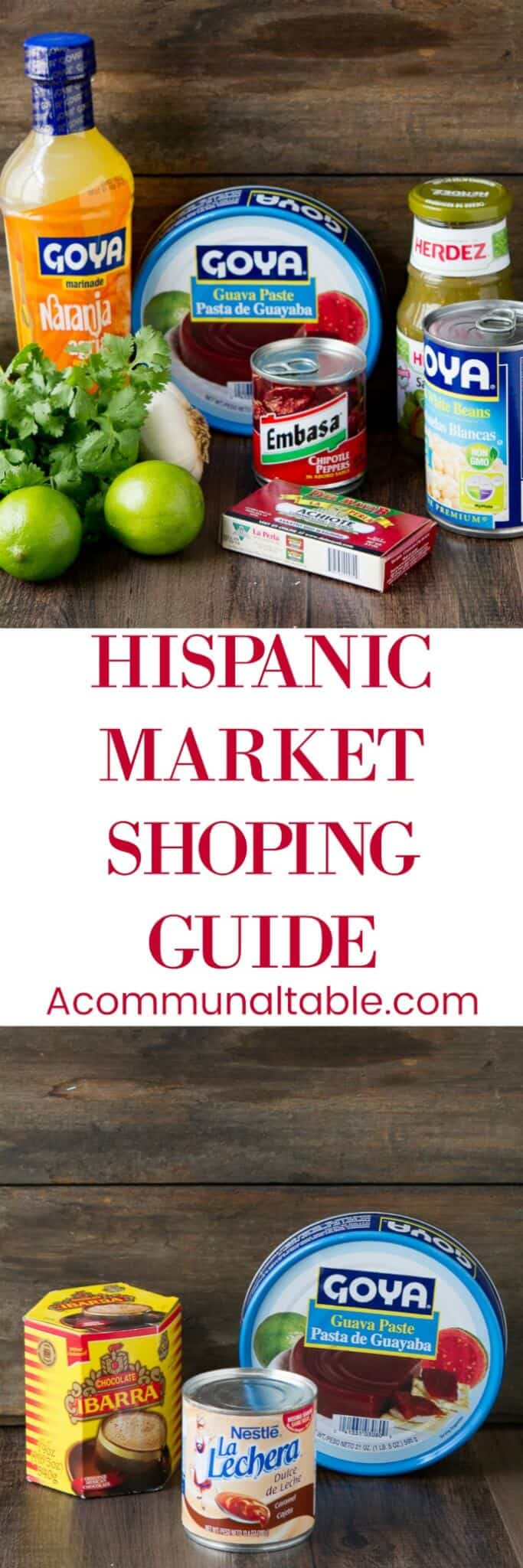 A handy Hispanic Market Shopping Guide for what foods to  buy at your local hispanic market and how use these ingredients for meals, drinks and desserts!