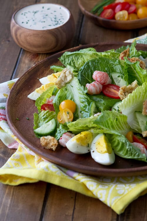 An update to the classic, this Old Bay Louie Salad features a creamy and savory dressing flavored with  Old Bay.