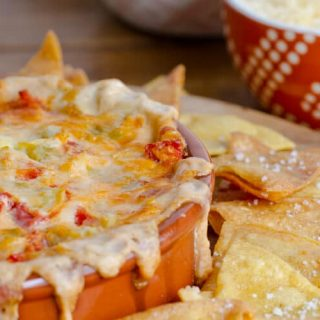 Queso Tomato and Artichoke Dip