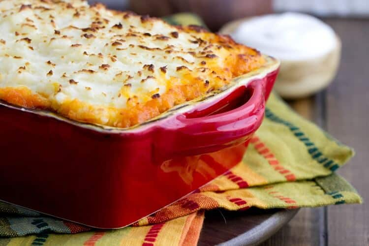 A latin twist to this classic make ahead one dish dinner, Chorizo Shepherd's Pie is ready in 30 minutes
