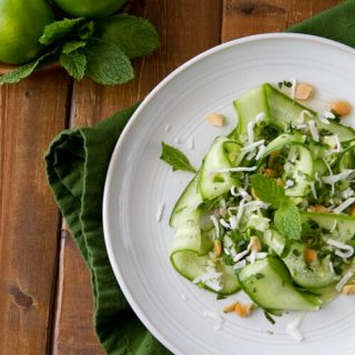 Thai Cucumber Salad with Lime Dressing