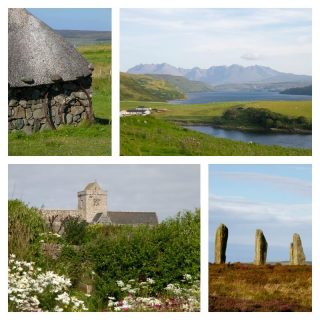 Scenes from the highlands of scotland - Skye, Iona and Orkney.