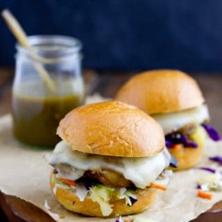 Chicken Green Chile Sliders