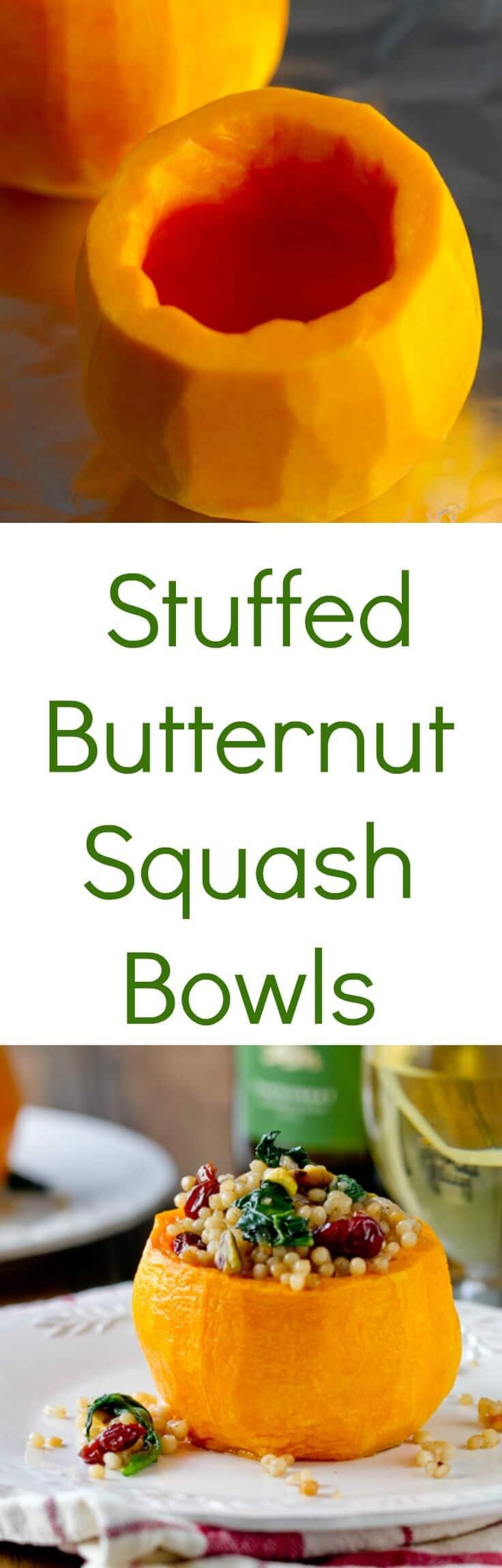 Stuffed Butternut Squash bowls