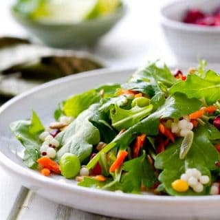 Vegetable Salad with Honey Lime Dressing