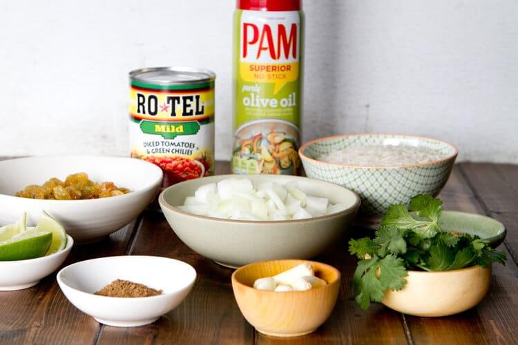 Chicken Biryani ingredients