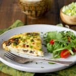 Leek, Mushroom and Yogurt Frittata
