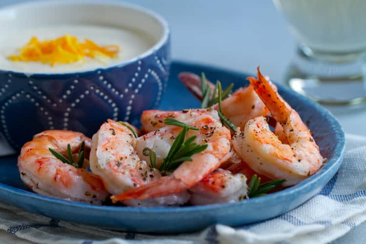 Roasted Rosemary Shrimp with Citrus Aioli