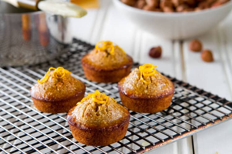 Orange hazelnut mini cake recipe is a quick mini dessert that's ideal with coffee or tea.