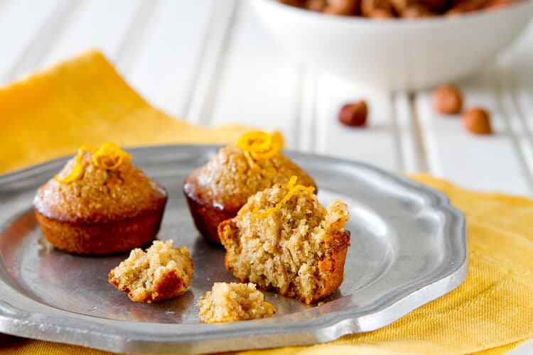 Orange hazelnut mini cakes - also known as financiers these mini cakes are ideal with coffee and tea.