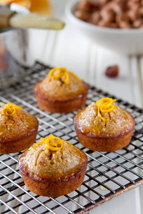 orange hazelnut mini cakes recipe is a quick mini dessert thats perfect with tea or coffee