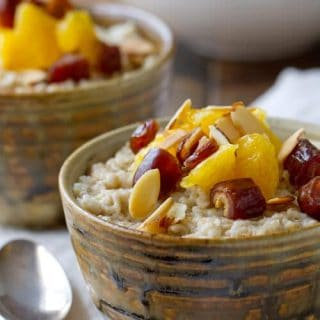 Orange and Date Oatmeal Bowl