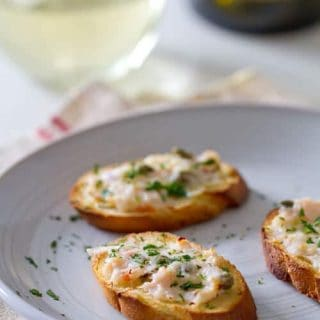 Shrimp Scampi Toast appetizer recipe
