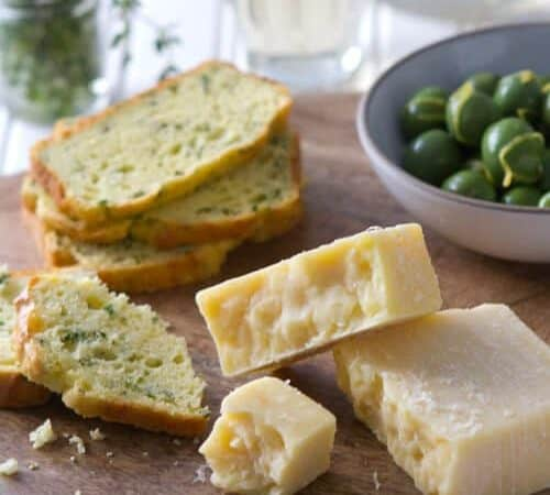 Cheese and Herb quick bread appetizer platter