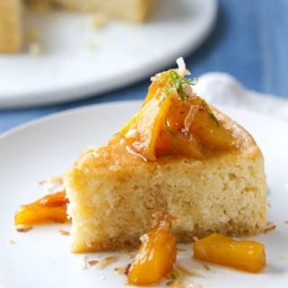 Fresh coconut and pineapple are the secret to this one pan Coconut Cake with Caramelized Pineapple, Rum and Lime Syrup