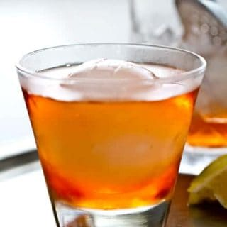 Contessa Cocktail - the Negroni's sexier cousin with Aperol, gin and dry vermouth