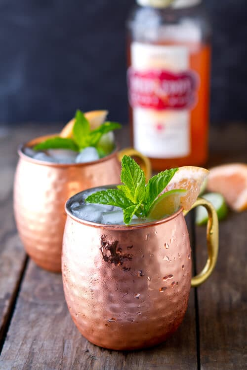 Sweet, tart and spicy this Ruby Red Moscow Mule is the perfect summer refresher!