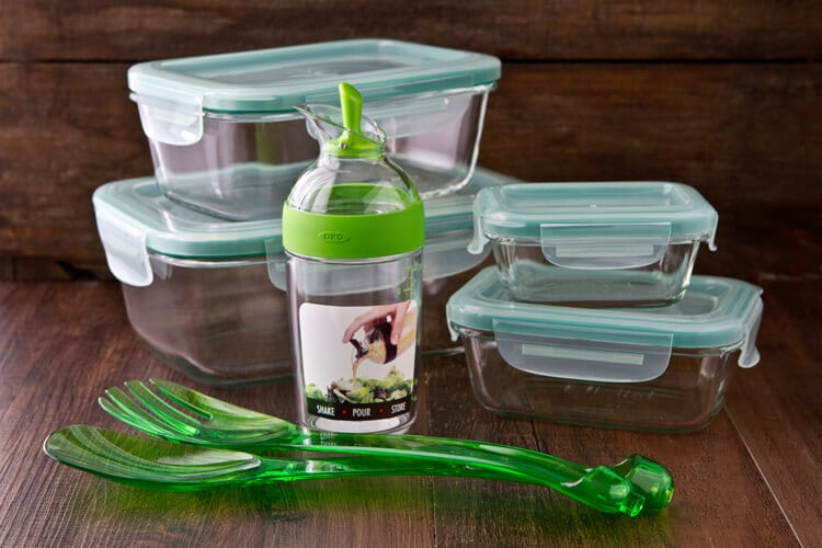 oxo containers and salad products