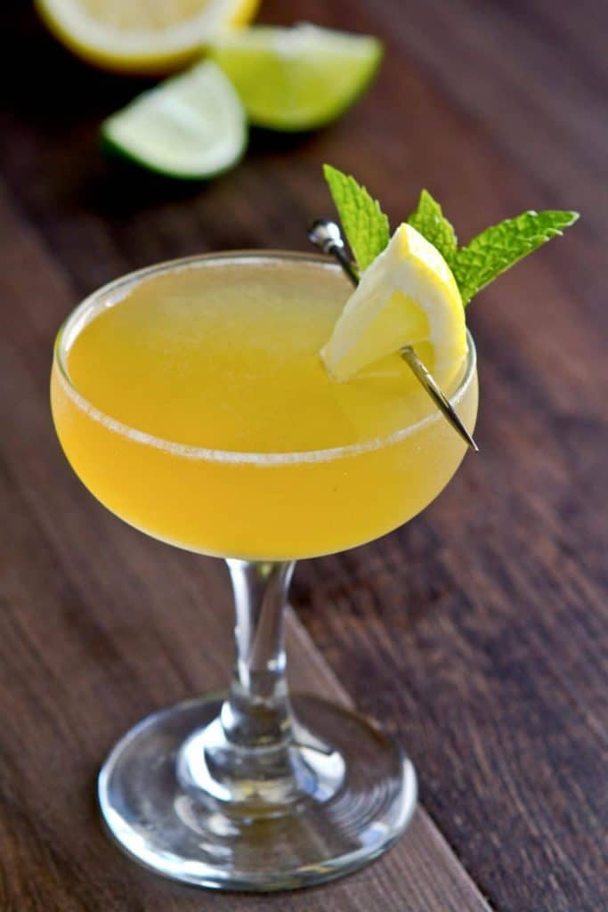 bourbon lemon drop martini