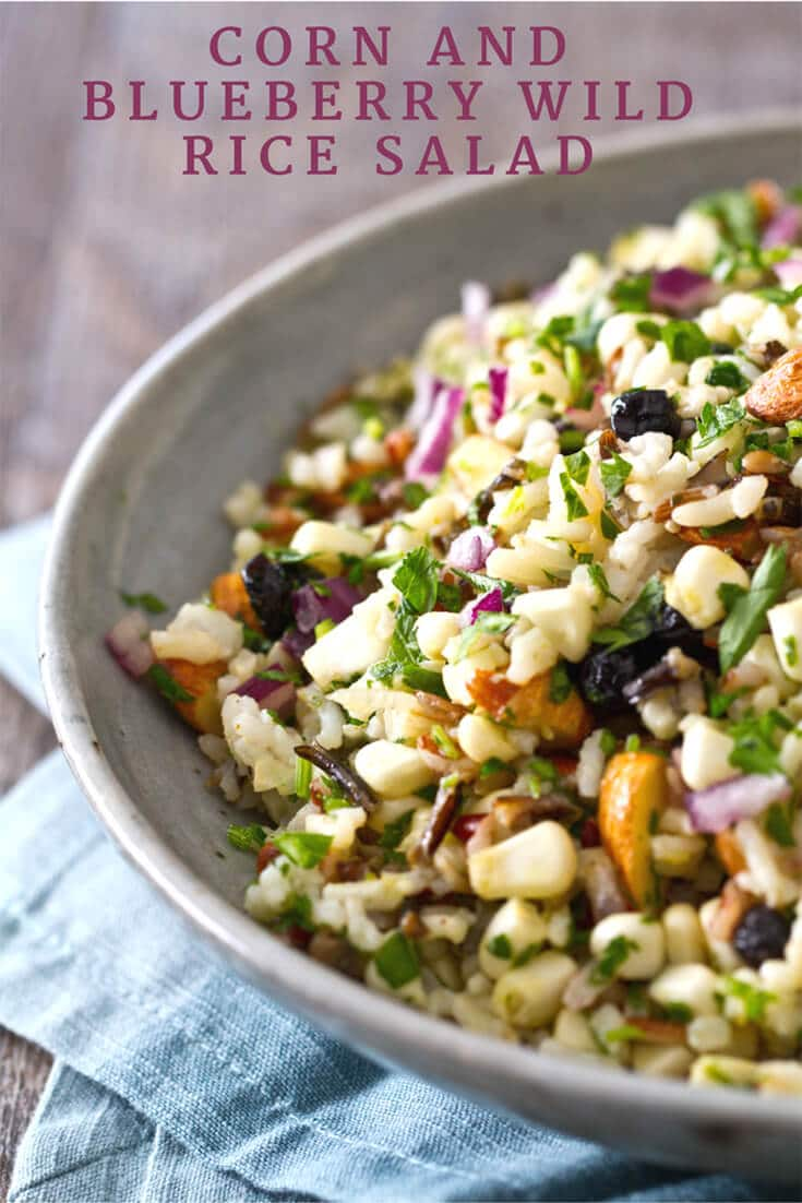 Corn, Blueberry and Wild Rice Salad Recipe