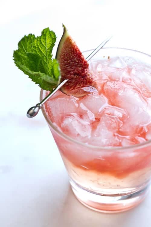 Fig, Bourbon and Honey Smash